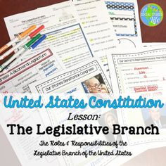 Constitution Unit Constitution - Legislative Branch Aim: What are the roles and responsibilities of the legislative branch? Who are our representatives? Included in this product: • Title page • Do Now: Congress - Our National Legislature reading passage with scaffolding questions • Structure of Congress diagram • Congress: A Bicameral Legislature graphic organizer •