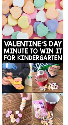 Valentine's Day Minute To Win It - Simply Kinder - Valentines day party - Kinder Valentines, Valentine Theme, Valentines Day Activities, Valentines Day Party, Valentine Preschool Party, Valentine Ideas, Valentine Crafts, Valentinstag Party, Kindergarten Party