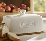 Rhodes Bread Box - traditional - food containers and storage - Pottery Barn Bread Bin, Bread Boxes, Meal Bread, Cake Boxes, Ceramic Bread Box, Rhodes Bread, How To Store Bread, Modern Outdoor Furniture, Kitchen Items