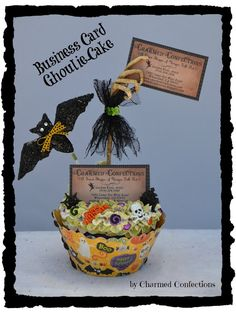 A Sweet Shoppe of Unique Folk Art! Halloween Countdown, Halloween Quotes, Halloween Stuff, Business Card Holders, Business Cards, Mummy Crafts, Small Cupcakes, Picture Holders, Your Cards