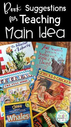 Teaching Main Idea, Teaching 5th Grade, 4th Grade Reading, Teaching Reading, Teaching Ideas, Guided Reading, Learning, Main Idea Lessons, Math Lessons