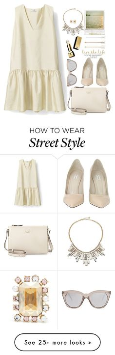 """imagine your style  ok "" by licethfashion on Polyvore featuring Marc Jacobs, Kate Spade, ABS by Allen Schwartz, Oscar de la Renta, Polaroid, Le Specs, Pottery Barn, Yves Saint Laurent and statementnecklaces"