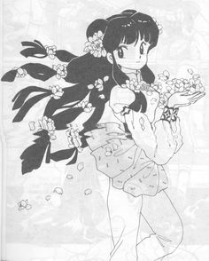 "Art from ""Ranma 1/2"" series by Rumiko Takahashi."