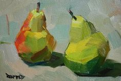 cathleen rehfeld • Daily Painting: Two Pears - SOLD