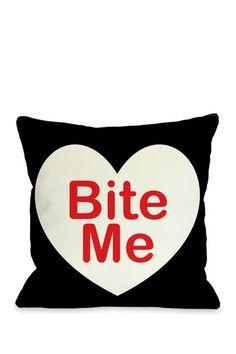 Bite Me Pillow