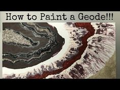 RESIN GEODE painting TUTORIAL, glitter and pigments, acrylic paint, glass and texture - YouTube