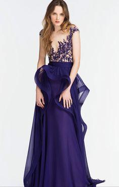 Royalblue Mesh Splicing Irregular Hem Embroidered Maxi Party Dress