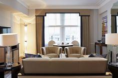 Sitting Room #InteriorDesign #Claridges #LINLEY