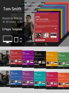 TomSmith Bootstrap Portfolio Website. Bootstrap Themes. $8.00