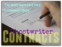 So you want to hire a ghostwriter? Here is what you should find in a ghostwriter contract. Your search for a ghostwriter is complete. Now it's time to roll up your sleeves and get to work. Fiction Writing, Writing Quotes, Writing A Book, Writing Tips, Online Writing Jobs, Freelance Writing Jobs, Content Marketing Strategy, Marketing Tools, Media Marketing