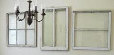 use your imagination with old repurposed window!