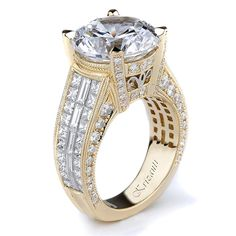 18KTY INVISIBLE SET ENGAGEMENT RING 2.39CT SIGNATURE COLLECTION