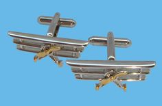 BASSIN AND BROWN - CUFFLINK COLLECTION - DESIGN: BIPLANE http://www.bassinandbrown.com/