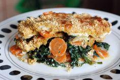 Fotorecept: Pečené chrumkavé morčacie rezne na zelenine