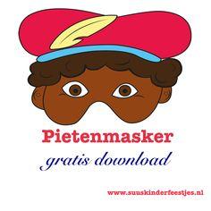 #Sinterklaas #knutselen: pietenmasker van Suus kinderfeestjes