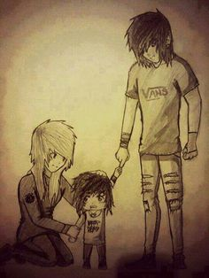 Aww emo family! <3