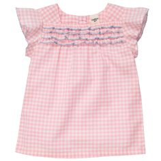 gingham with picot trim