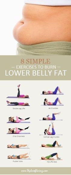 Belly Fat Workout - 8 Simple Exercises to Lose Lower Belly Fat-Dieting and exerc. Belly Fat Workout – 8 Simple Exercises to Lose Lower Belly Fat-Dieting and exercise go hand in ha Body Fitness, Health Fitness, Fitness Plan, Physical Fitness, Fitness Diet, Health Club, Fitness Hacks, Physical Exercise, Exercise Routines
