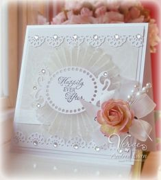 Very pretty wedding card by MarylinJ