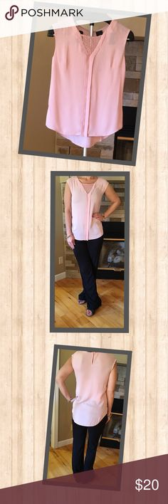 Worthington Sleeveless Tank New with tags gorgeous pink sleeveless tank with neckline detailing.  Beautiful shade of pink! Tops Tank Tops