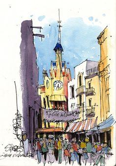 Urban Sketchers: Exploring Sitges!