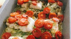 Kabeljauw met pesto en geroosterde ovengroenten