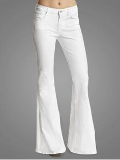 Love that Bell Bottoms are back and a high waist.