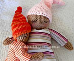 Godoy, sleepy doll by Abrazables. Godoy, muñeco dormilón tejido a dos agujas  http://abrazables.blogspot.com.ar/