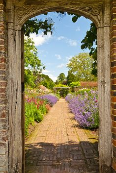 Barrington Court Walled Garden - Westport, England, Owned and protected by the National Trust, this beautiful Elizabethan house is just down the road from us and we enjoy family days picnicking on the lawn in the summertime x