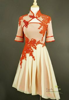 Merry/wedding dress/gown/prom dress/bridesmaid/chiffon/ tea length/custom made/ALL SIZE. $350.00, via Etsy.