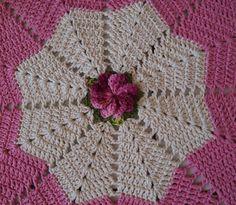 Crochet OF ELSA: Carpet Round Star with Flowers Weathervane Wind
