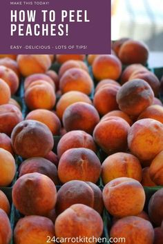 You'll love this kitchen hack! Dairy Free Recipes, Real Food Recipes, Vegan Recipes, How To Peel Peaches, Simple Hack, Vegan Appetizers, Fruit In Season, Paleo Dessert, Kitchen Recipes