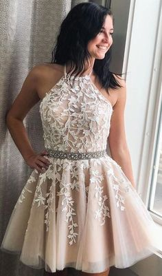 Let's check it out, Pretty A-lin Princess Lace Tulle Short Homecoming Dresses For Teens for your inspiration. You can wear this short prom dress to your party, which do make you the most stunning girl. Fit comfortably and looked so gorgeous. Light Pink Bridesmaid Dresses, Simple Homecoming Dresses, Hoco Dresses, Sexy Dresses, Summer Dresses, Wedding Dresses, Simple Dresses, Casual Dresses, Pretty Dresses For Teens