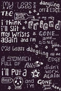 Lyrics (Bullet - Hollywood Undead) - drawn on iPad