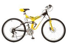 Mountain Bikes - Titan 135 Glacier PRO Alloy Dual Suspension All Terrain 21Speed 19Inch Frame Mountain Bike YellowBlack Large * Want additional info? Click on the image.