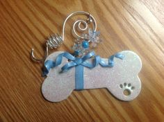 Personalized Handmade Dog Bone Ornament or by CreativeConsequences, $10.00