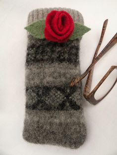 Recycled Wool Eye Glass Case on Etsy, $12.00