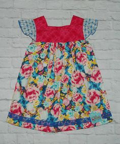 Red & Blue Bed of Roses Sophie Dress - Infant, Toddler & Girls by Sweet Petunia #zulily #zulilyfinds