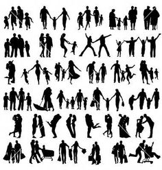 Silhouette Mensch photos, royalty-free images, graphics, vectors, and videos - Mensch Mom Dad Tattoos, Father Tattoos, Family Tattoos, Silhouette Family, Silhouette Images, Silhouette Vector, Band Tattoo Designs, Family Tattoo Designs, Silhouette Tattoos