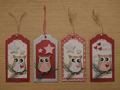 Stampin up owl punch Christmas Stickers, Christmas Tag, Christmas Crafts, Holiday Gift Tags, Holiday Cards, Valentine Day Cards, Xmas Cards, Owl Punch Cards, Stampin Up