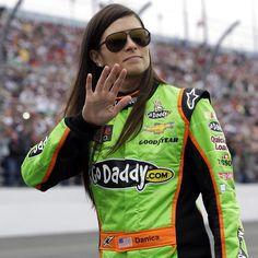 HISTORY GIRL ... Danica Patrick waves to fans at NASCAR Daytona 500