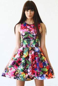 Eight Sixty Style #CNB890303 Multi color women's FLORAL PARTY DRESS