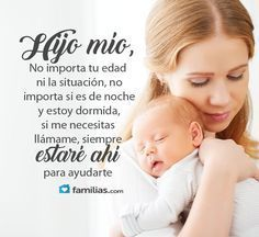 Frases de amor y familia #frases de #amor y #familia #yoamoamifamilia www.familias.com Mother Poems, Mother Quotes, Quotes For Your Son, Lds Quotes, Inspirational Quotes, Message To My Son, Quotes En Espanol, Baby Memes, Lilac Wedding