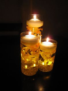 Floating candle AND LED sumbersible lights