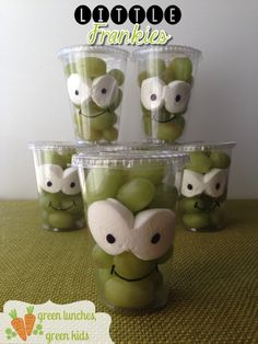 Little Frankies Class Snack! Healthy snack idea for halloween by Green Lunches, Green Kids!