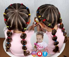Easy Hairstyles For Kids, Baby Girl Hairstyles, Princess Hairstyles, Cute Hairstyles, Braided Hairstyles, Girl Hair Dos, Leila, Crazy Hair Days, Half Up Half Down Hair
