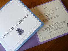 Spa themed Hen Party invitations