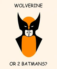 Wolverine or Batman? An optical illusion