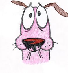 drawings of dogs | Courage the Cowardly Dog by ~cartoonimedeo on deviantART