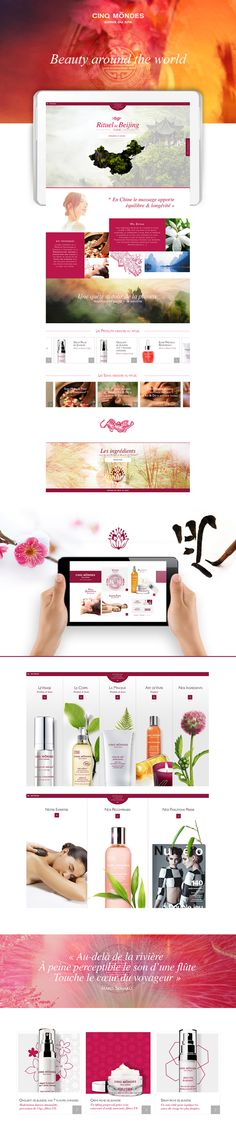 Cinq Mondes • Spa and Beauty by Myriam Penot, via Behance